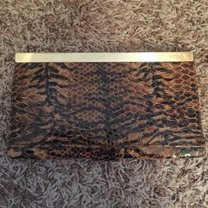 Hobo bags snake python wallet clutch
